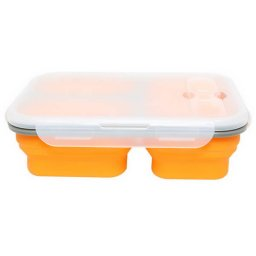 orange silicone lunch box