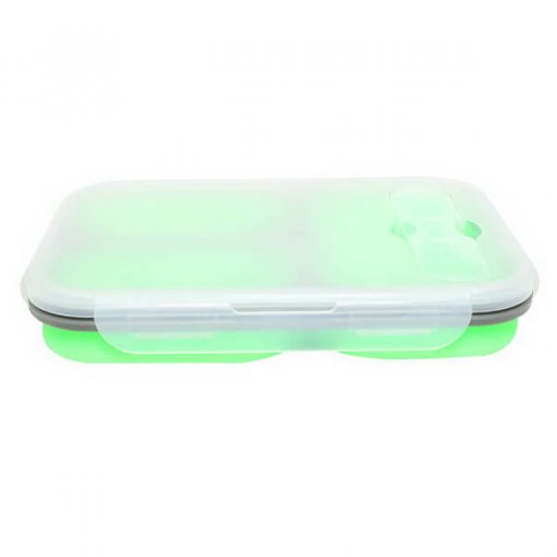 green silicone lunch box 02