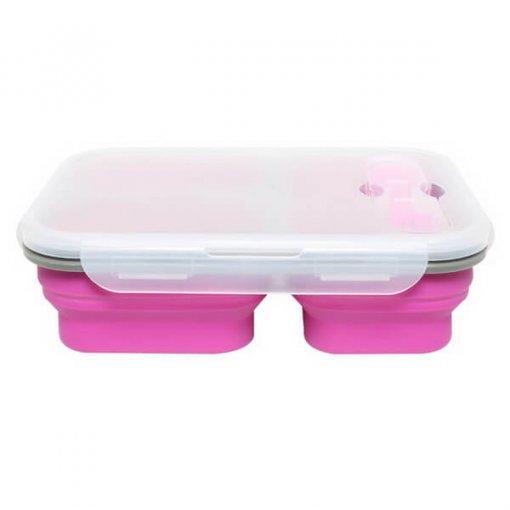 purple silicone lunch box